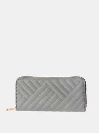 Šedá dámská prošívaná peněženka Clayre & Eef