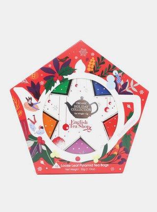 Červená vianočná kolekcia čajov English Tea Shop