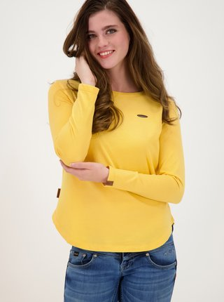 Žlté dámske tričko Alife and Kickin