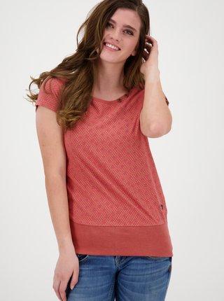 Růžové dámské vzorované tričko Alife and Kickin
