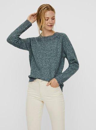Zelený žíhaný sveter VERO MODA Doffy
