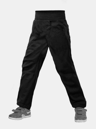 Černé klučičí softshellové kalhoty bez zateplení Unuo Cool