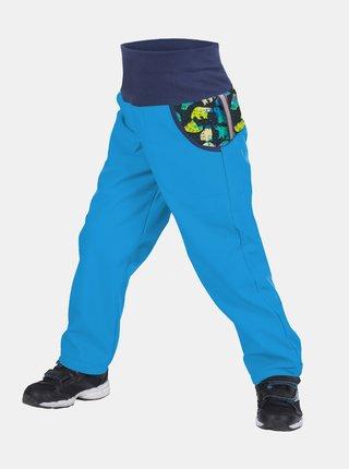 Modré klučičí softshellové kalhoty Unuo