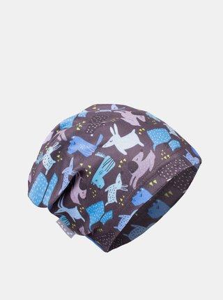Modro-šedá klučičí fleecová čepice Unuo