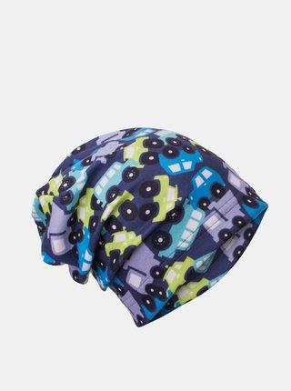 Modrá klučičí fleecová čepice Unuo