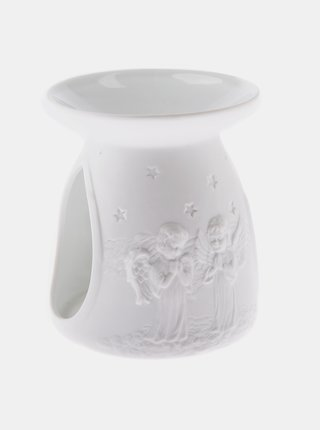 Bílá porcelánová aromalampa Dakls