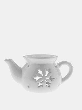 Bílá keramická aromalampa Dakls