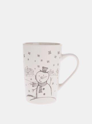 Krémový porcelánový hrnek s vánočním motivem Dakls 435 ml