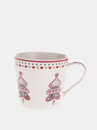 Krémový porcelánový hrnček s vianočným motívom Dakls 400 ml