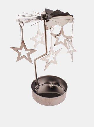 Vánoční dekorace s hvězdami ve stříbrné barvě Dakls