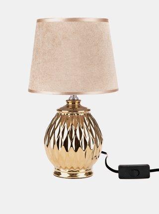 Stolná lampička v zlatej farbe Dakls