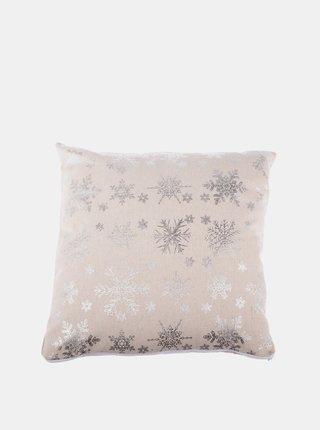 Krémový povlak na polštář s vánočním motivem Dakls