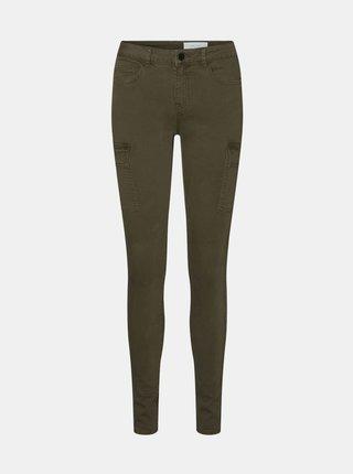 Khaki skinny fit kalhoty Noisy May Lucy