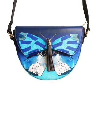 Disaster modrá crossbody kabelka Papillon Saddle Bag