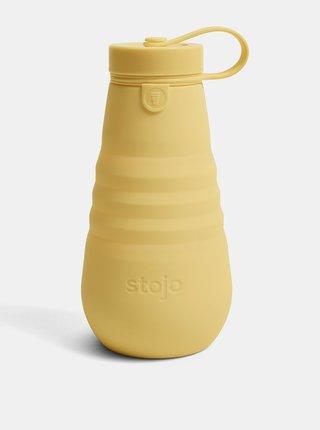 Žltá cestovná skladacia fľaša Stojo 592 ml
