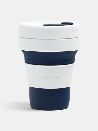 Bielo-modrý cestovný skladací hrnček Stojo Pocket 355 ml