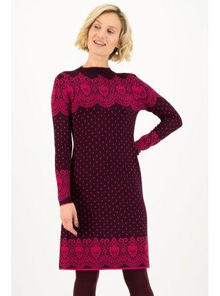 Blutsgeschwister fialovo-růžové zimní šaty Penny Port