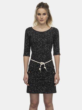 Černé květované šaty Ragwear