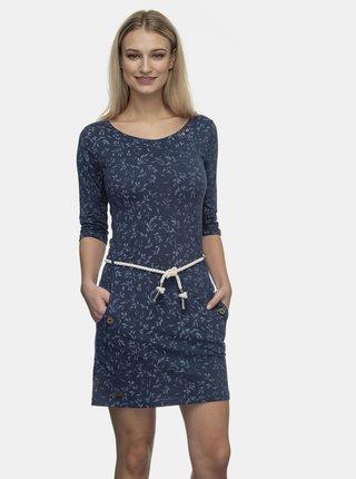 Tmavě modré květované šaty Ragwear