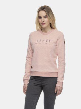 Světle růžová dámská mikina Ragwear