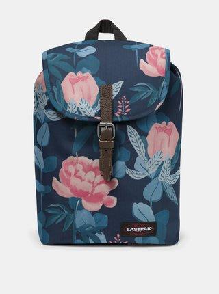Tmavě modrý květovaný batoh Eastpak 10,5 l