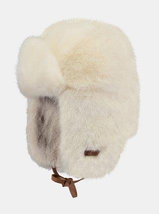 Krémová dámská čepice z umělého kožíšku Barts