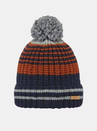 Hnedo-modrá chlapčenská čiapka Barts