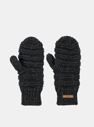 Tmavě šedé dámské rukavice s příměsí vlny Barts