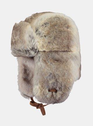 Hnědá dámská čepice z umělého kožíšku Barts