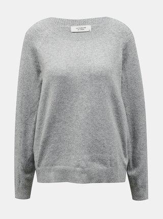 Svetlošedý sveter Jacqueline de Yong