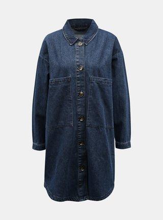 Modrá dlhá rifľová bunda Jacqueline de Yong