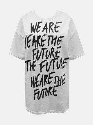 Bílé oversize tričko s potiskem TALLY WEiJL