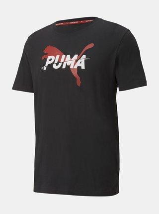 Čierne pánske tričko s potlačou Puma