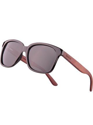 Verdster Lyon dřevěné sluneční brýle černé