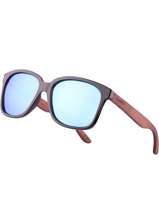 Verdster Lyon dřevěné sluneční brýle modré