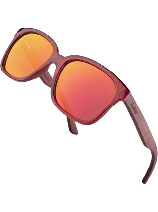 Verdster Lyon dřevěné sluneční brýle červené