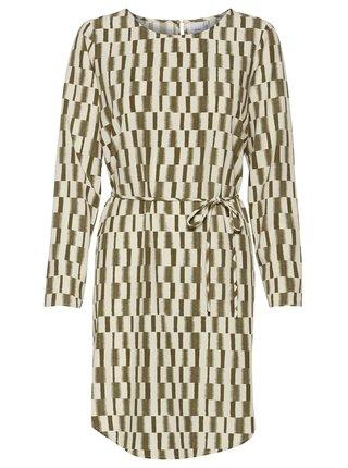Ichi béžovo-zelené šaty Ihcass