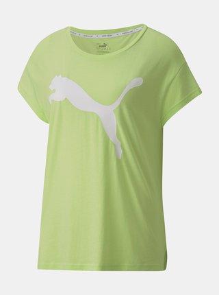 Zelené dámské tričko s potiskem Puma
