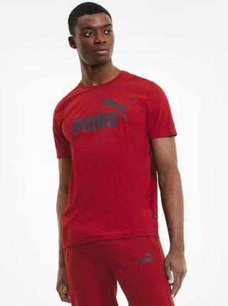 Červené pánské tričko s potiskem Puma