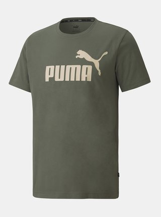 Khaki pánské tričko s potiskem Puma