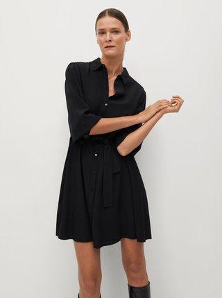 Černé košilové šaty Mango