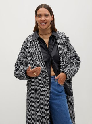 Šedý kabát Mango