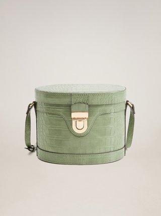 Zelené crossbody kabelka s krokodýlím vzorem Mango
