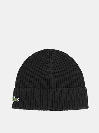 Čierna vlnená čiapka Lacoste