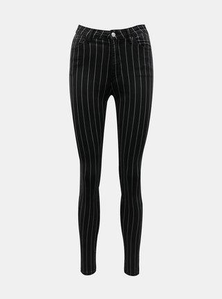 Čierne pruhované skinny fit nohavice TALLY WEiJL