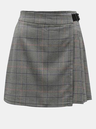Šedá kostkovaná sukně TALLY WEiJL