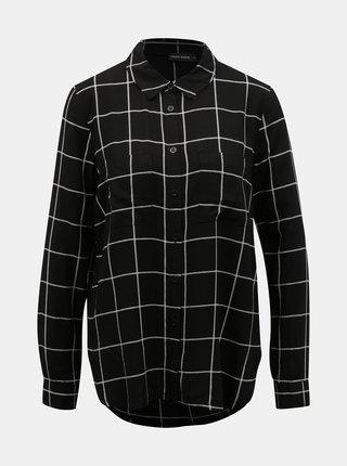 Černá kostkovaná košile TALLY WEiJL