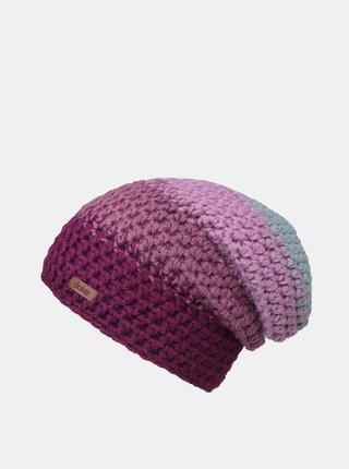 Růžovo-fialová dámská čepice DOKE
