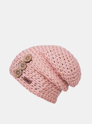 Růžová dámská čepice DOKE