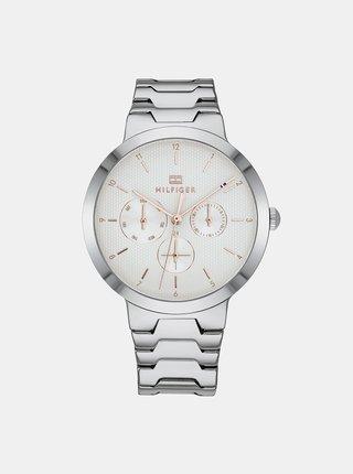 Dámske hodinky s oceľovým remienkom v striebornej farbe Tommy Hilfiger